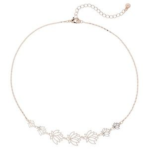 LC Lauren Conrad Lotus Flower Statement Necklace